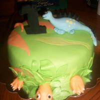 Dinosaur Cake For 1 Year Old Boy *Dinosaur cake for 1 year old boy!
