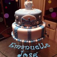 Caribbean Cakes Creations   Welcome Baby Boy Cake !