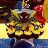 Caribbean Cakes Creations   Super Hero Mix (Spiderman/Flash) Birthday Cake