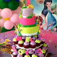 Caribbean Cakes Creations   Tink's Colorful Birthday Cake Tower !