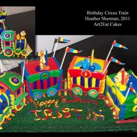 Carnival Animal Train By H. Sherman, Art2Eat Cakes Carnival Animal Train by H. Sherman, Art2Eat Cakes - Toot! Toot! All aboard the Circus Train Birthday Express!! This darling Birthday Boy...