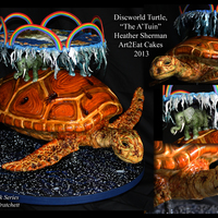 Discworld Turtle Cake By H. Sherman, Art2Eat Cakes Discworld Turtle Cake by H. Sherman, Art2Eat Cakes - 10/12/13 This custom-order was a special request cake, as an Anniversary gift. It is a...