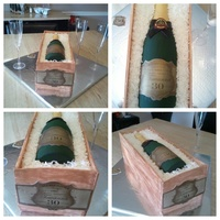 30Th Birthday Champagne Wine Bottle Cake 30th birthday champagne wine bottle cake