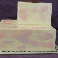 Rebaptism Cake For My Grandma Smbc With Watercolour Effect Hand Painted Fondant Board 8Inch And 5Inch Cakes By Far The Scariest Cake I H Rebaptism cake for my Grandma. SMBC with watercolour effect. Hand painted fondant board. 8inch and 5inch cakes. By far the scariest cake I...