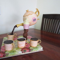 Made For My Grandma Fondant Covered Coffee Pot With Fondanttylose Handle And Spot Fondanttylose Cups With Cupcakes Inside Made for my Grandma. Fondant covered 'coffee pot' with fondant/tylose handle and spot. Fondant/tylose cups with cupcakes inside...