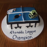 Table Tennis Themed Cake Table Tennis themed cake