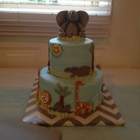 Safari Theme Baby Shower Cake Safari Theme baby shower cake