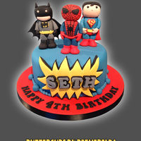 Cute Super Hero Cake