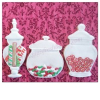 Christmas Candy Jar Cookies! hand painted candy royal icing transfers on iced sugar cookies