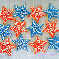 Bandana Star Cookies! Celebrating the 4th of July!