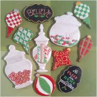 No Place Like Home For The Holidays! vanilla sugar cookies with royal icing ~ some hand painted and airbrushed