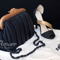 Black Shoe And Bag Cake 1