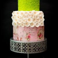Sequin Decoupage Cake Sequin Decoupage Cake