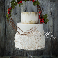White Christmas Bas relief and berries for this Christmas!