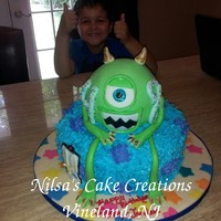 Monsters Inc Birthday Cake Had fun making this birthday cake! I got the idea from various cakes here at Cake Central. Thanks to all the talented people at Cake...