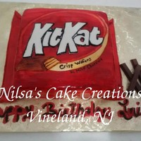 Kit Kat Themed Birthday Cake
