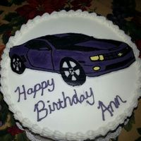 Purple Camaro My First Butter Cream Transfer Cake Purple Camaro. My first butter cream transfer cake.