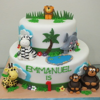 Jungle Cake Jungle-themed cake.