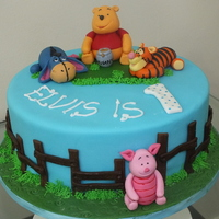 Winnie The Pooh Themed Cake Winnie-the-Pooh-themed cake.