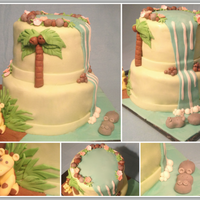 Exotic Jungle Theme Cake Fondant and gumpaste details. Inspired by CC user BCo!