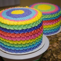 Two Six Layer Rainbow Cakes For Cstmer Two six layer rainbow cakes for cstmer.