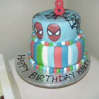 This Is A Spiderman Cake I Made For My Friends Sons 8Th Birthday I Really Struggled With Getting My Fondant Colouring To Be Vibrant This is a spiderman cake I made for my friend's son's 8th birthday. I really struggled with getting my fondant colouring to be...