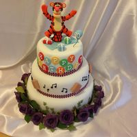 Multiple Themed Tigger 60Th Cake Designed By Birthday To Reflect The Different Sides Of Her Personality Multiple themed Tigger 60th cake, designed by birthday to reflect the different sides of her personality