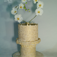 "Wedding Cake Heart Of A White Orchid Wedding cake ""Heart of a White Orchid"""