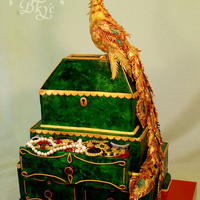 "Wedding Cake The Malachite Larets And Fire Bird 20 Kg Three Level Pie And Birdie Height Is 76 Cm Wedding cake ""the Malachite larets and Fire-bird"". 20 kg, three-level pie and birdie. Height is 76 cm."