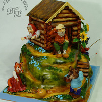 "Cake Based On The Russian Folk Tale The Gingerbread Man Cake based on the Russian folk tale ""The Gingerbread Man."""