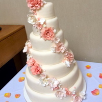 7 Tier Wedding Cake With Sugar Flowers By The Kooky Cake Parlour 7 tier wedding cake with sugar flowers by The Kooky Cake Parlour