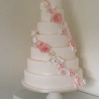 7 Tier Wedding Cake With Sugar Flowers 7 tier wedding cake with sugar flowers