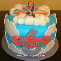 Planes Themed Cake Made For A Little Boys 6Th Birthday Planes themed cake made for a little boy's 6th birthday!