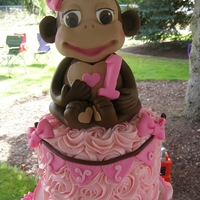 Monkey Themed Cake Made For A Little Girls First Birthday Monkey themed Cake made for a little girl's first birthday!