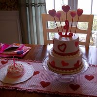 Valentine Birthday   My GD first birthday and smash cake.
