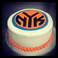 New York Knicks Cake Logo Hand Painted New York Knicks cake - logo hand painted