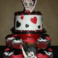Betty Boop Cake Amp Cupcakes * Betty Boop Cake & Cupcakes