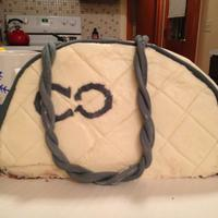 My First Purse Cake My Friend Is A Coach Gal   My first purse cake. My friend is a Coach gal.