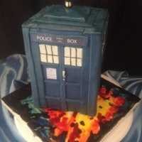 Tardis So I'm a baker and a nerd. I made this cake for my birthday. Chocolate cake with orange buttercream and dark chocolate orange ganache...