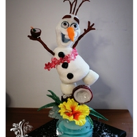 """ It's Always Summer! ""   Hi, I'm Olaf and I love warm hugs!!! All Blown and Pulled Sugar"
