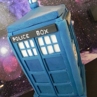 Dr Who-Inspired Cake Toppers   RKT covered in fondant with hand-painted details.