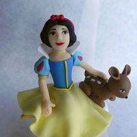 Snow White All fondant Snow White and doe cake topper. My 3rd attempt at semi-realistic human form. :)