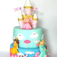 Super Mario Pink Princess Cake