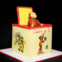 Curious George Jack-In-The-Box   Free hand, hand painted