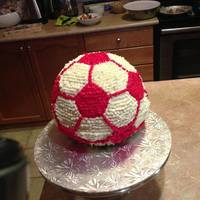 First Soccerball Cake First Soccerball cake!