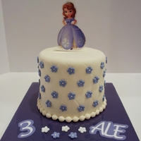 Sofia Princess Birthday Cake Sofia the First. Disney Princess Birthday Cake. Fondarific fondant and accents. Sofia topper was cut from acrylic using Silhouette Cameo...