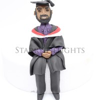 Graduate Cake Topper Just a little topper i wanted to share with you as i love him :) He is so happy :)