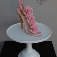 Very Pink Shoe This was the topper for my mother-in-laws birthday cake, a gum paste shoe inspired by a shoe I saw on Pinterest a while back with a gold...