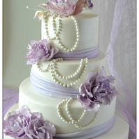 Purple Peony Wedding Cake purple peony wedding cake