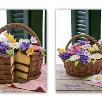 Flower Basket Cake Flower basket cake